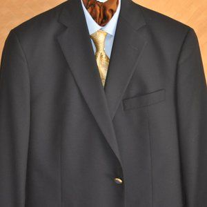 Brooks Brothers Loro Piana Navy Blazer Size 42 43R